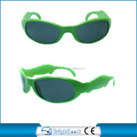 Green frame high quality promotion kids sunglasses