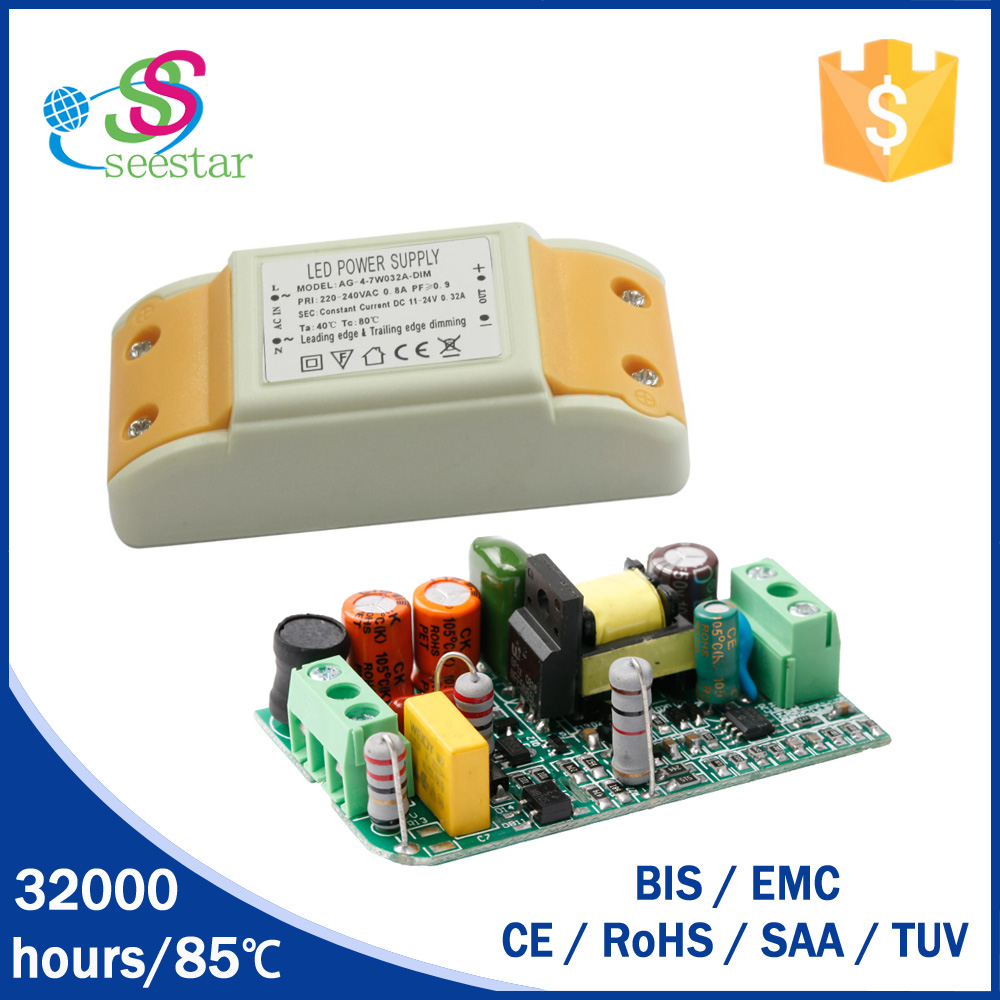 SAA CE listed constant current 300ma 350ma 8w triac dimmable led driver