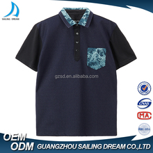 Online sale promotional 65% polyester 35% cotton navy new design pocket polo t shirt with wholesale price