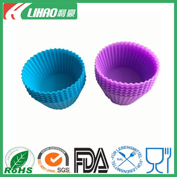 Soft Round Silicone Cake Muffin Chocolate Cupcake Liner Baking Cup Mold