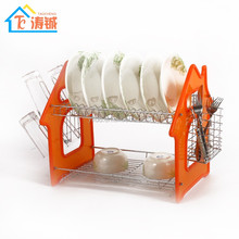 Latest design large chrome metal wire dish plate cutlery holder kitchen drainer rack,dish drying rack,plate shelf