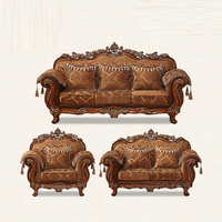 French Royal Designs Living Room Sofa Set 1+2+3 Hot Sell in Guangdong Foshan Furniture Mall