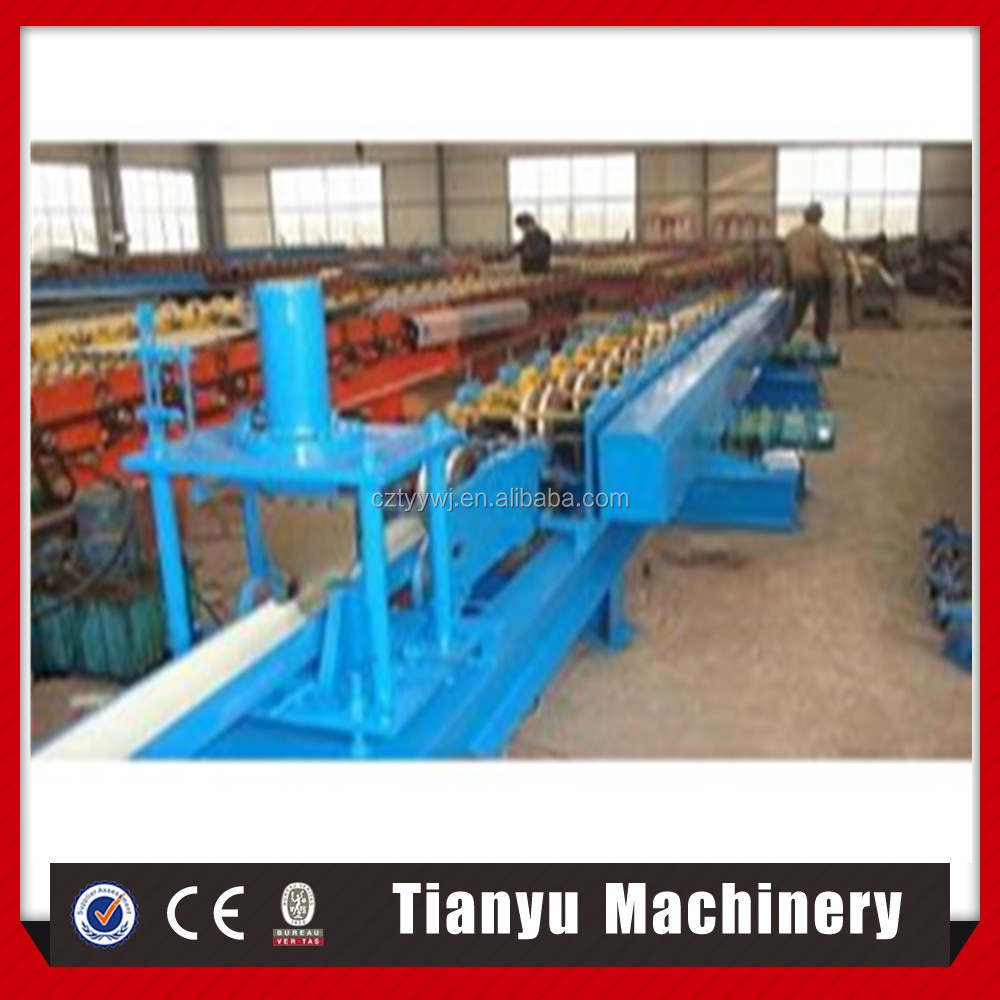 Roll forming steel water gutter machine production line