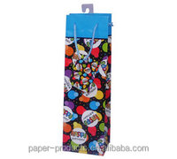 cheap wholesale colorful craft paper wine bag /wine paper bag
