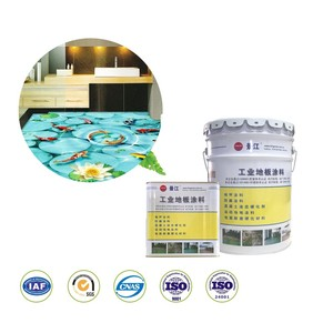 Dirt repellent flooring liquid 3D epoxy resin coating transparent 3d epoxy floor paint