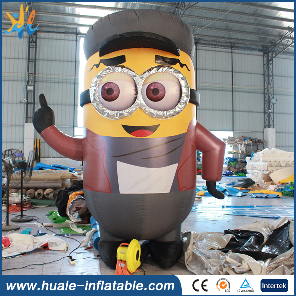 Customized inflatable minion cartoon, large inflatable minion for advertising