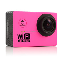 Helmet Camera 1080p 16MP Wirelesse Sport Camra Waterproof for Moto& Bike Extreme Sports