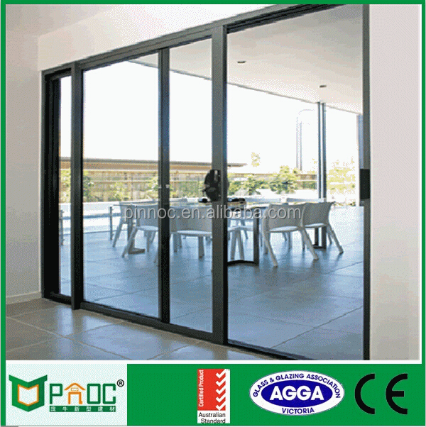 Doric Handle Glass Sliding Door with Australian Standard AS2047