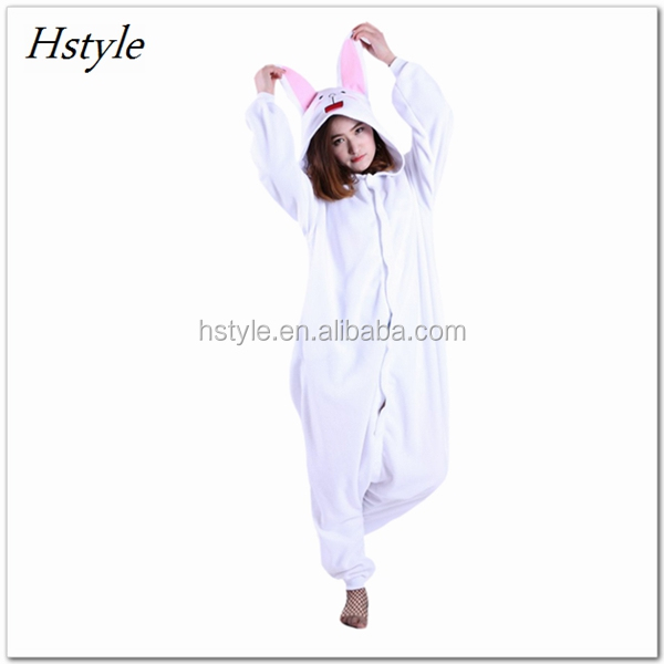 Easy to Clean Adult Size Animal Pajama Winter Fleece Pajama Party Costume Pajama - Bunny Cony DWY123