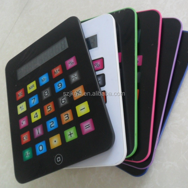 2015 new hot sale ipad shape touch screen calculator watch