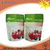 Eco-friendly stand up aluminum foil dried cherry packaging bags