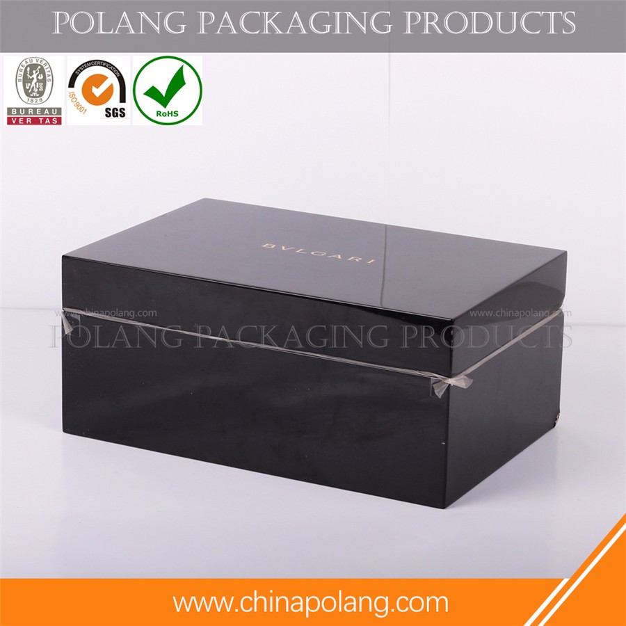 HIGH quality wood material box for red WOODEN wine packaging