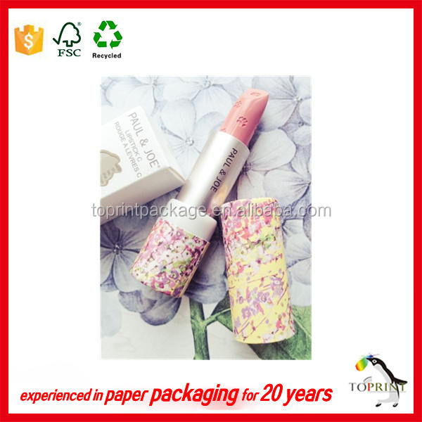Custom eco friendly empty lipstick tubes container with metal pipe
