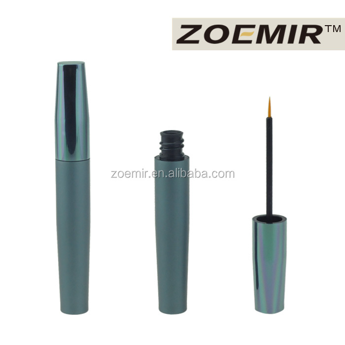 Make your own brand makeup eyeliner pencil packaging tube blue cosmetic aluminum eyeliner tube