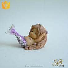 Handpainted Hot Sell Decoration Resin Female Statues Mermaid Figurine for Sale