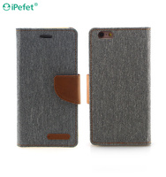 Wholesale Leather Flip Case with Card Holder Leather Phone Case for iPhone 6S