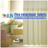 Excellent quality 100%polyester permanent flame retardant hospital privacy curtain design