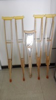 Kinds Of Underarm Wooden Crutch Natural