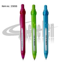 Message Pen Plastic Promotional Ballpoint Pen with Window for Advertisement Press action Retractable Ball Perns