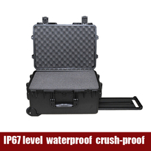China Shanghai Tricases grey color large size hard plastic wheeled waterproof protective equipment case with pick and pluck foam