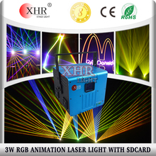 Cheap SD Card Laser 3000mw 3W Stage Laser Data Show Projector Night Club Lighting