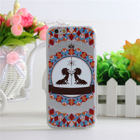 2016 newest printing plastic mobile phone cover TPU custom for iphone 6 case