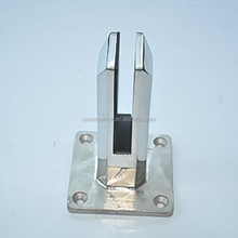 Stainless Steel Spigots Frameless Pool Deck Fence Glass Clamp