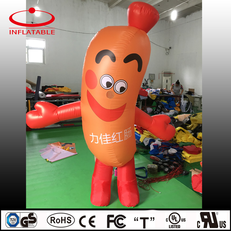 inflatable moving cartoon/inflatable promotion product/inflatbale sausage