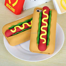 2015 New wholesale Hot dog design cell phone cover case for iphone,wholesale cell phone case for iPhone 5G/6G/6Plus