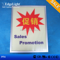 Edgelight PF4 plastic frame , single side , acrylic photo picture frame FOR SALE