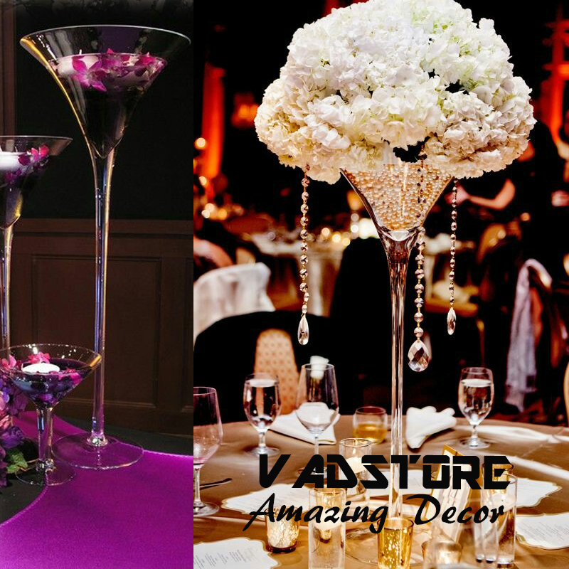 Quot martini glass vase wedding table centerpiece flower