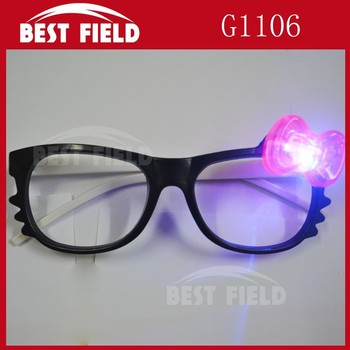 frame with flashing bowknot Flashing LED glasses