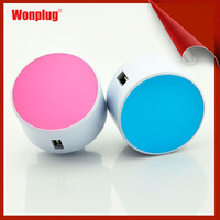 5V 2.1 A beautiful and colorful mobile travel charger can charge Iphone ,IPOD faster and safe.