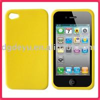 For Apple iPhone 4 silicone Bumper/Skin Case Cover for Apple iPhone 3G 3GS *NEW* for iphone4&4G(high quality)-Yellow