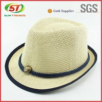 Promotional wholesale paper straw cowboy hat/panama/sombrero fedora hats