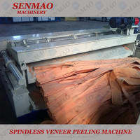 spindle less veneer peeling machine/4 feet wood rotary lathe/no chuck peeling machine