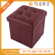 v-ding from china supplier new best sell products suitable for home office folding storage stool with drawer