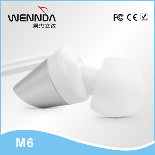 Latest Metal PATENTED Earphones with Microphone for Android and for iPhone Wennda M6