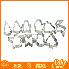 natale decorazioni di pan di zenzero cookie cutter in metallo set