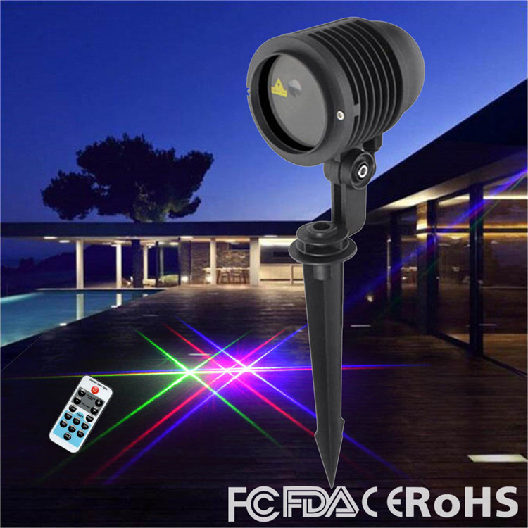 3 Color Outdoor Motion Laser Lights Show Projector