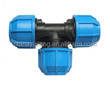 Water supply system pe pipe fitting equal tee joints