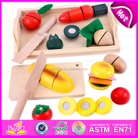 decorative tools cutting fruits for baby, educational DIY wooden cutting fruit toy for kids W10B111-S