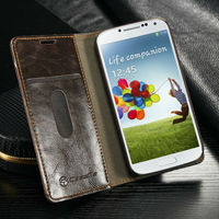 Hot Selling luxury magnet Case Cover for Samsung Galaxy S4 caseme Hard Case, wallet leather case