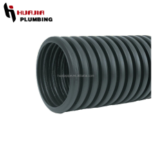 JH0588 large diameter plastic corrugated drainage pipe black plastic drain pipe black corrugated pipe