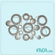 Custom Shell Iron Decoration Metal Circle Wall Art