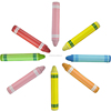 Silicon Crayon Shape Touch Screen Pen For Phone/Pad/Tablet Silicone Capacitive Stylus