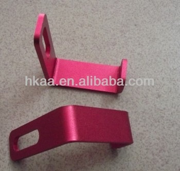 sheet metal stamping parts red anodized aluminum bracket small angle bracket