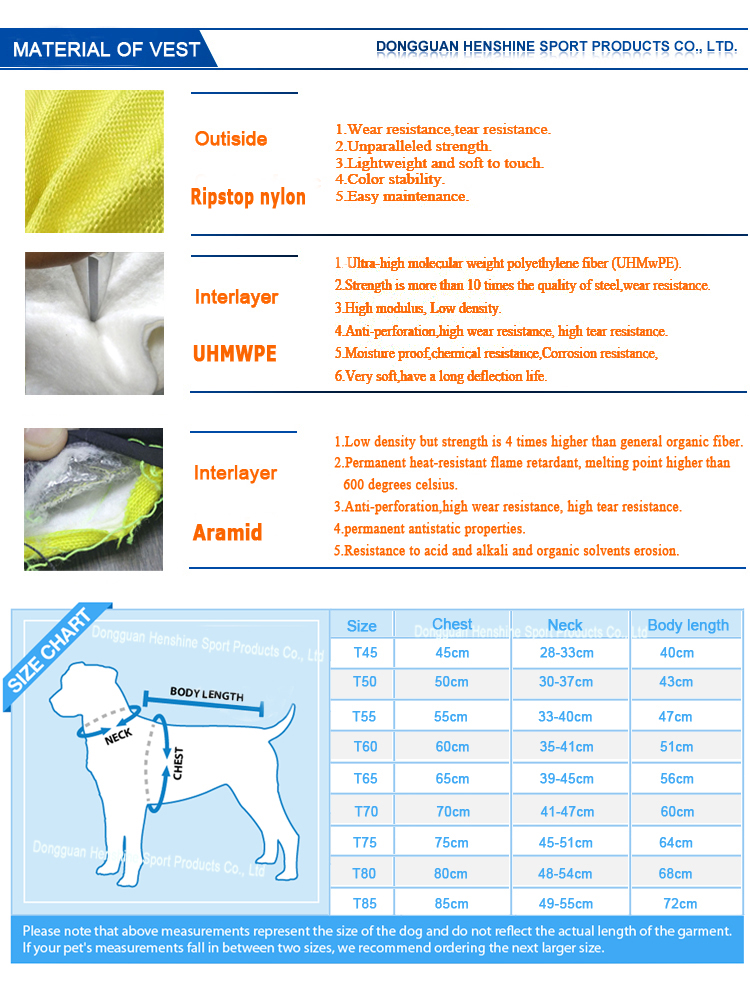 Anti-perforation adjustable outdoor pet dog vest for summer