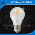 dimmable filament led bulb UL dimmable LED Filament Bulb A19 E26 Soft White 4W to Replace Inandescent Bulb 40W