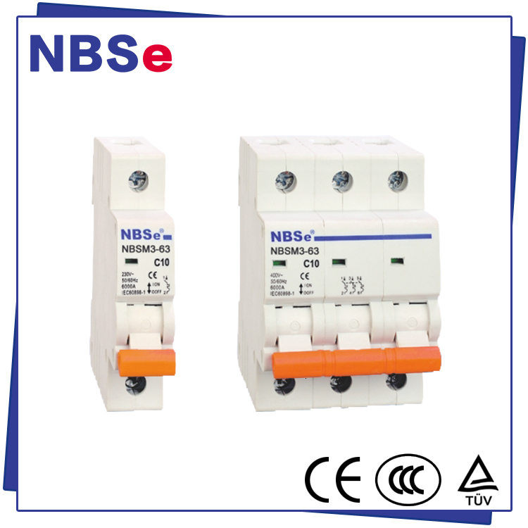 NBSe hot selling mcb 63 amp 4 pole mini circuit breaker